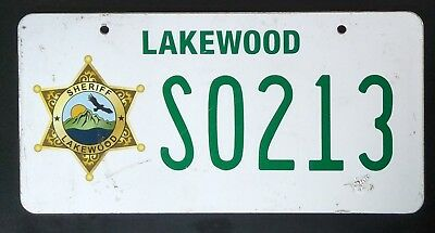 Scream TV Show Genuine Production Used Prop Licence Plate Sheriff Lakewood