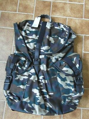 Mens River Island Camo Backpack One Size