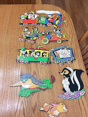 Lot of 6 Vintage Walt Disney Productions Cast of Characters Wall Plaques