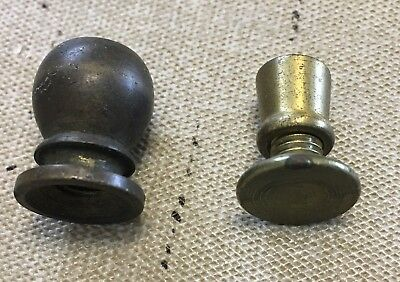VTG. ESTATE ~ LOT OF 2  FINIALS ~ Light Fixture Lamp Parts ~ Replacements