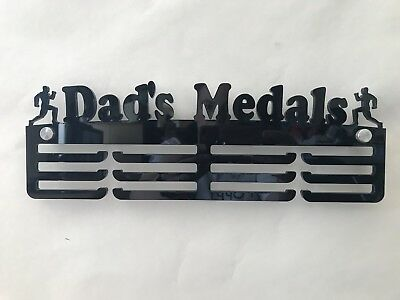 5mm Thick Acrylic 3 Tier DAD'S MEDALS Medal Hanger/ Rack / Holder Ideal Gift