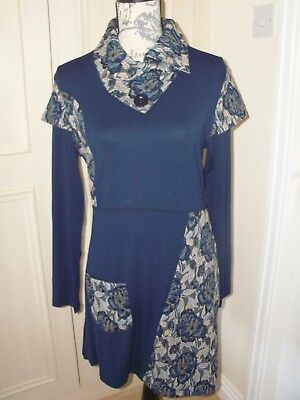 NEW JOE BROWNS Tunic Dress Navy /Floral  Choice of Size