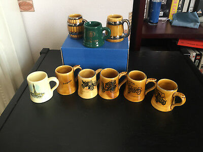 Vintage Wade Pottery Tankards Lot of 9