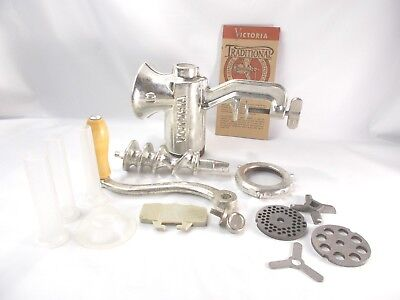 Victoria #10 Meat Food Grinder Sausage Pusher Complete Clamp-On