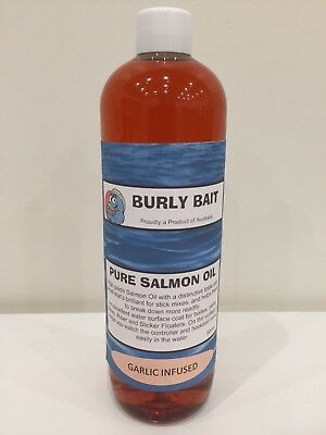 Burly Bait Fish Garlic Salmon Oil Attractant Boilies Burley Dip Stick Spod 500ml