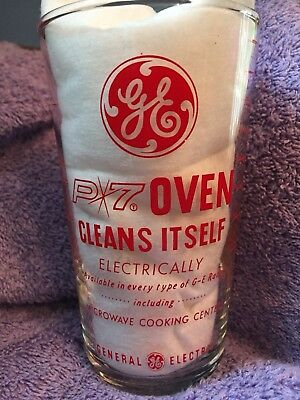 1963 GE General Electric Advertising Measuring Glass P7 Self Clean Oven Vintage