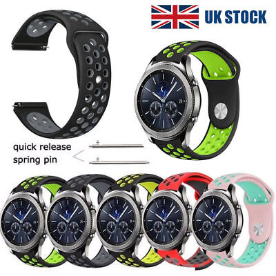 Silicone Wrist Band Watch Strap For Samsung Gear S2 S3 Classic Frontier 20 22mm