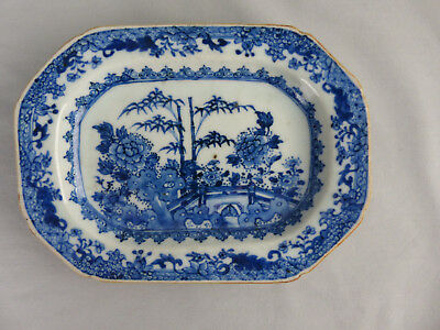 18Th Century Chinese Export Porcelain Blue And White Plate