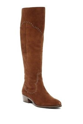 8c203997d0a NIB Women s Frye Ray Grommet Over The Knee Suede Boots Wood Size 9  478