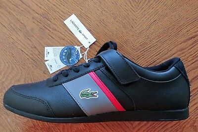 18715c4d2c3e88 LACOSTE GIRON 317 7-34CAM0039231 Black Grey Leather Casual Shoes ...