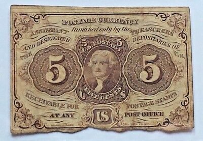 5 Cents Us Fractional Currency