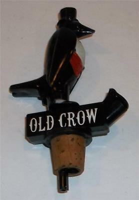 Vintage Old Crow Whiskey Bottle Top Pourer / Stopper