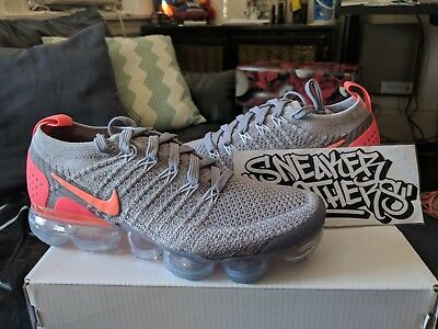 size 40 7388f 5ec7e NIKE WOMEN VAPORMAX Flyknit 2 Atmosphere Grey Pink Crimson Pulse 942843-005