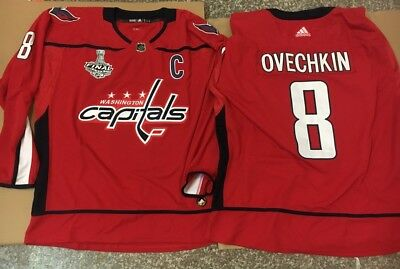 online store 68b52 6691b NWT ALEX OVECHKIN #8 Washington Capitals 2018 Champions Authentic Jersey Red