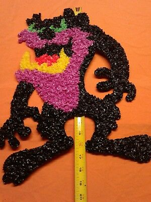 "19"" Taz Tazmanian Devil Melted Popcorn Plastic Wall Decoration Warner Brothers"