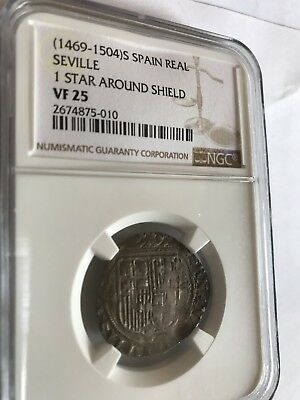 Seville Spain 1469-1504 1 Real Ferdinand and Isabella