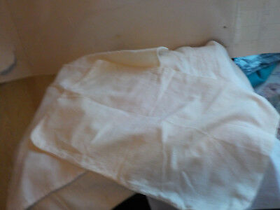 "Flour Or Seed Sacks Vintage White 8 Are 8 By 13"" 2 20 By 10"" No Names"
