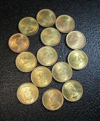 14 Hong Kong 5 Cent Coins All Dated 1965 in Very Nice Shape
