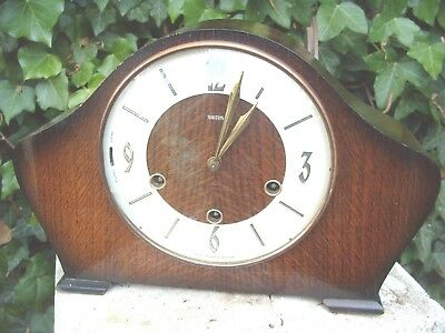 Mantel  Clock Smiths   Westminster  Floating Balance  + Key