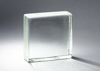 "VISTABRIK Glass 8""x8""x3"" Solid Clear Block - Pittsburgh Corning USA Made"