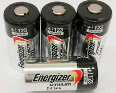 4 x ENERGIZER CR123a 3v Lithium Photo Battery DL123A CR17345 Camera LONG EXPIRY