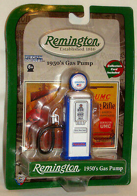 Gearbox REMINGTON WHITE/ BLUE DIE CAST METAL 1950'S Style Gas Pump