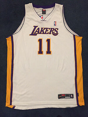 Karl Malone  11 NBA Nike Authentic Los Angeles Lakers Home White Jersey 56  NWT 6c31ed798