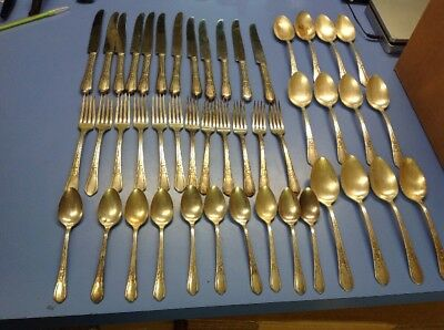 Set Lot Of 46pcs Vintage Simeon L and George H Rogers Company flatware
