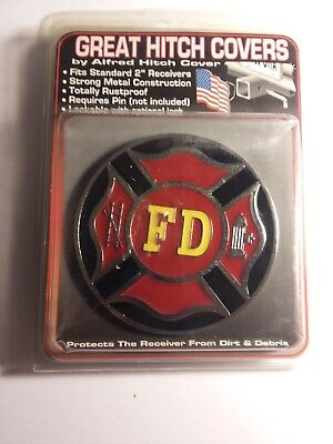 New Firefighter's Hitch Cover 3D Maltese Strong Metal Construction Made In USA