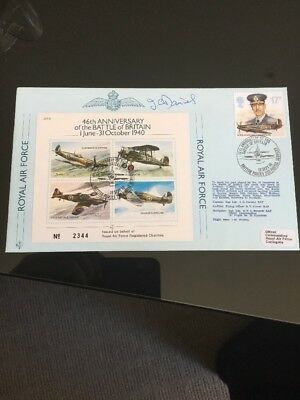 1986 46th Anniversary Of The Battle Of Britain Signed RAF Flight FDC