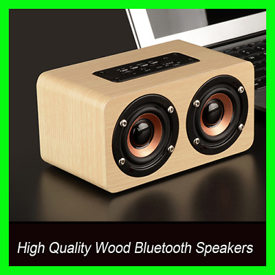 Wood Bluetooth Speaker Wooden Wireless Speaker Portable HiFi Stereo