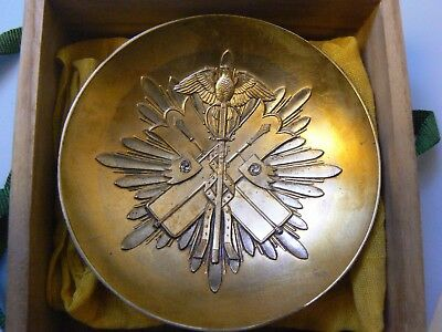 JAPAN EMPIRE WWII ORDER of the GOLDEN KITE SAKE CUP, SILVERED,Type I, beautiful