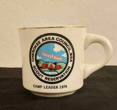 Vintage Coffee Mug Skymont Scout Reservation Camp Staff 1974