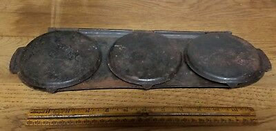Antique Campfire Wood Stove Pancake Flop Griddle Pan - Lightweight Iron - Rare!