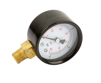 "Air Pressure gauge,dry, 2"" (50 mm ) face dia., 0-60 PSI, NPT1/4 ,lower mount"