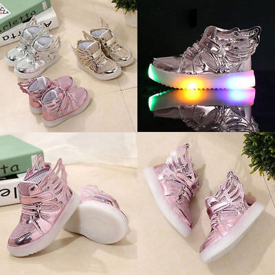 LED Child Boy Girl Flash Light Up Sneakers Baby Luminous Shoes Trainers Kid Gift