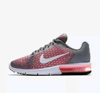 best loved 2664d e4384 Nike Air Max Sequent 2 Grey Pink Women Running Shoes Sneakers 852465-003  size 7