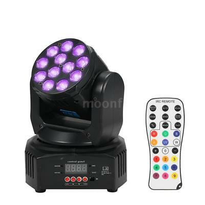 Mini 12 LED 40W RGBW Wash Rotating Moving Head Etape Effet lumineux 7/13 C6Q4