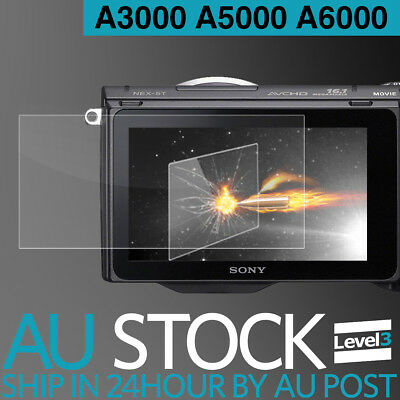 LCD Premium Tempered Glass Film Screen Protector Sony A3000 A5000 A6000 A5100