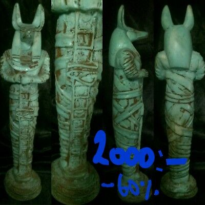 low outbid1$!!!!RARE EGYPTIAN ANTIQUE ANUBIS JACKAL ANCIENT EGYPT GOD DEITY DOG