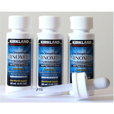 Kirkland Minoxidil 5% Extra Strength Men 3 Month Supply Hair Regrowth EXP 1/2020