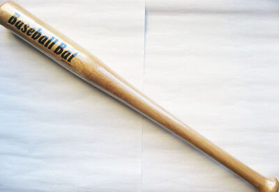 Brand New 25Inch Outdoor Wooden Baseball Bat Free Postage 63.5CM