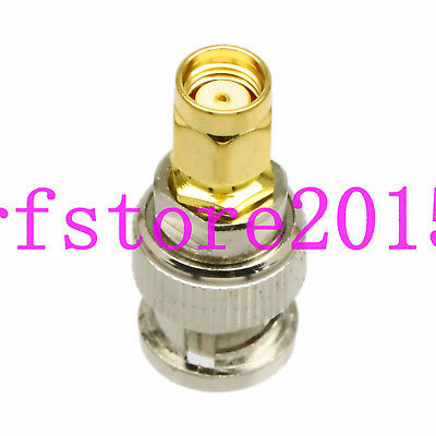 Adapter BNC male to RP-SMA jack connector For Oscilloscope Radio Repeater SDI AP