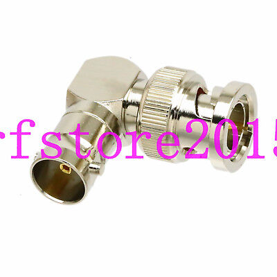 mini-SDI HD PLC AB 75ohm BNC Male to Female right angle elbow RF L adapter