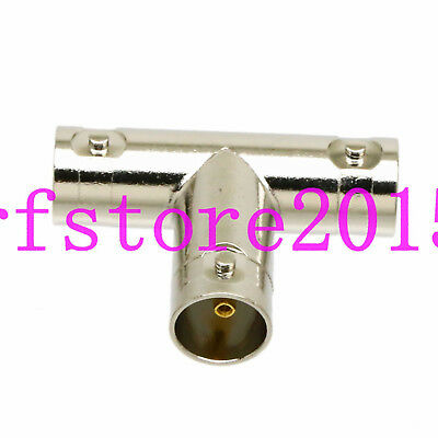 mini-SDI HD PLC AB BNC Jack to 2x BNC female T triple RF adapter connector 75ohm