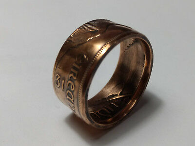 Irish - 1 Penny - 1d Pingin - Coin Ring (US-Size 10 1/2)