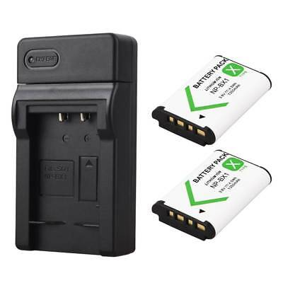 2x NP-BX1 Battery 1350mAh + Charger For Sony DSC RX1 RX100 RX1R AS15 WX350 HX400
