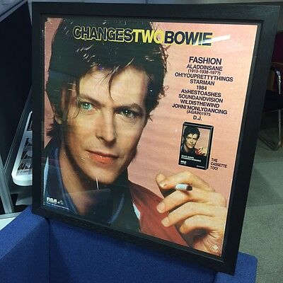 Framed David Bowie Genuine Rca 1981 Changes Two Original Promotional Poster