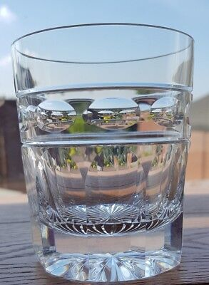 """Cumbria Crystal """"HELVELLYN"""" 8oz Whisky Glasses – 3 1/2 Tall (Signed)"""