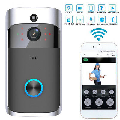 Smart Wireless WiFi Security DoorBell Smart Video Phone Door Visual Recording UK
